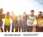 diverse people friends fun... | Shutterstock . vector #426331957