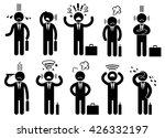 businessman stress pressure ...   Shutterstock .eps vector #426332197