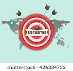 the concept of geo targeting.... | Shutterstock .eps vector #426334723