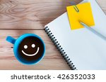 sketchbook  yellow paper note... | Shutterstock . vector #426352033