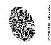 fingerprint silhouette on white ... | Shutterstock .eps vector #426368023