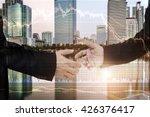 finance data concept.  two... | Shutterstock . vector #426376417