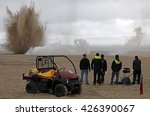 Small photo of FRANCE, Dunkerque:picture is taken of the set of next Christopher Nolan film called Dunkirk on May 25, 2016 on the beach in northern France. According to the official synopsis released by Warner Bros