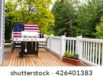 home outdoor patio and barbecue ... | Shutterstock . vector #426401383