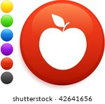 apple icon on round internet...