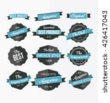set of retro labels  stickers...   Shutterstock .eps vector #426417043