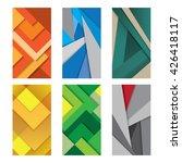 six background unusual modern...