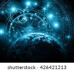 best internet concept of global ... | Shutterstock . vector #426421213