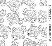 cute sea seamless pattern with... | Shutterstock .eps vector #426422143