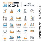 set vector line icons with open ... | Shutterstock .eps vector #426426847