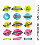 set of colorful retro labels ... | Shutterstock .eps vector #426431173