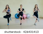 beautiful girls spend aerobics... | Shutterstock . vector #426431413