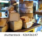 Close Up Of Various Cheeses At...