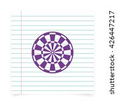 flat target for darts. | Shutterstock . vector #426447217
