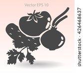 flat vegetables icon | Shutterstock .eps vector #426468637