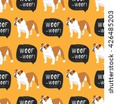 english bulldog seamless... | Shutterstock .eps vector #426485203
