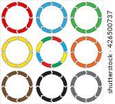 circle  ring arrow. set of... | Shutterstock .eps vector #426500737