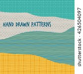 abstract design with hand drawn ... | Shutterstock .eps vector #426504097