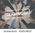 teamwork team building... | Shutterstock . vector #426514813