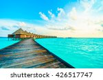 beautiful tropical maldives... | Shutterstock . vector #426517747