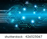 blue abstract light hi tech... | Shutterstock . vector #426525067