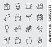 restaurant line icon | Shutterstock .eps vector #426530383