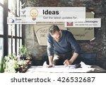 ideas thinking creative mission ... | Shutterstock . vector #426532687