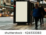 blank outdoor bus advertising... | Shutterstock . vector #426533383