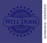 well done badge with denim... | Shutterstock .eps vector #426552223