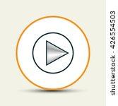 rewind icon symbol  vector... | Shutterstock .eps vector #426554503