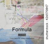 Small photo of Formula Algebra Analytics Education Math Concept