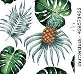 tropical jungle nature palm... | Shutterstock . vector #426571423