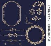vintage set. floral elements... | Shutterstock . vector #426578677