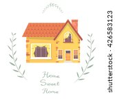 house. small country house with ... | Shutterstock .eps vector #426583123