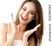 young woman showing smile  in... | Shutterstock . vector #426584263