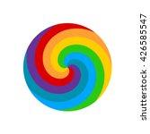 rainbow round spiral circle... | Shutterstock .eps vector #426585547