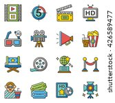 icon set movie vector | Shutterstock .eps vector #426589477