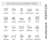 icons of holidays and... | Shutterstock .eps vector #426591133