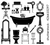 antique furniture. bathroom. | Shutterstock .eps vector #426610297