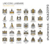 Landmark , Thin Line and Pixel Perfect Icons | Shutterstock vector #426620593