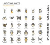 insect   thin line and pixel... | Shutterstock .eps vector #426621337