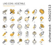 vegetable   thin line and pixel ... | Shutterstock .eps vector #426622513