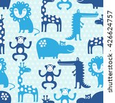 african animal seamless pattern....   Shutterstock .eps vector #426624757