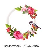 vintage floral wreath for... | Shutterstock . vector #426637057