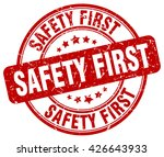 safety first. stamp | Shutterstock .eps vector #426643933