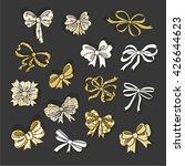 set of gold glitter and sparkle ... | Shutterstock .eps vector #426644623