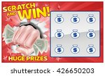 a lottery instant scratch and... | Shutterstock .eps vector #426650203