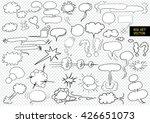 comic blank text speech clouds...   Shutterstock .eps vector #426651073
