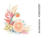 romantic decoration with bird... | Shutterstock .eps vector #426653287