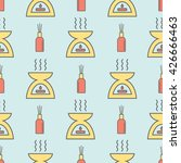 seamless vector pattern with... | Shutterstock .eps vector #426666463